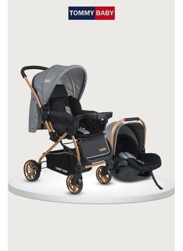 Tommy Baby Tb-980 Gold Travel Çift Yön (Seyahat) Sistem Bebek Arabası Puset Gri